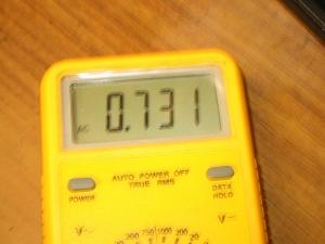 Asus Eee PC 901のバッテリが77%のときのDCの消費電流
