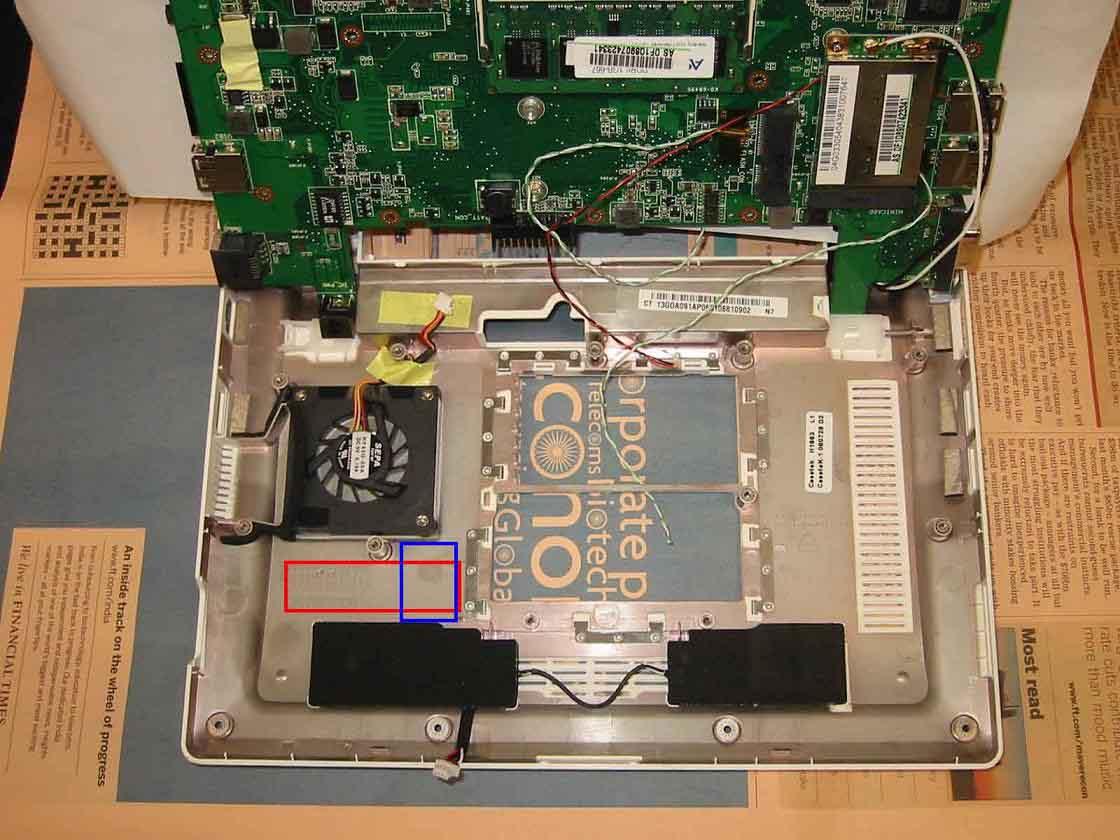 ASUSU Eee PC 900の増設ポイント1