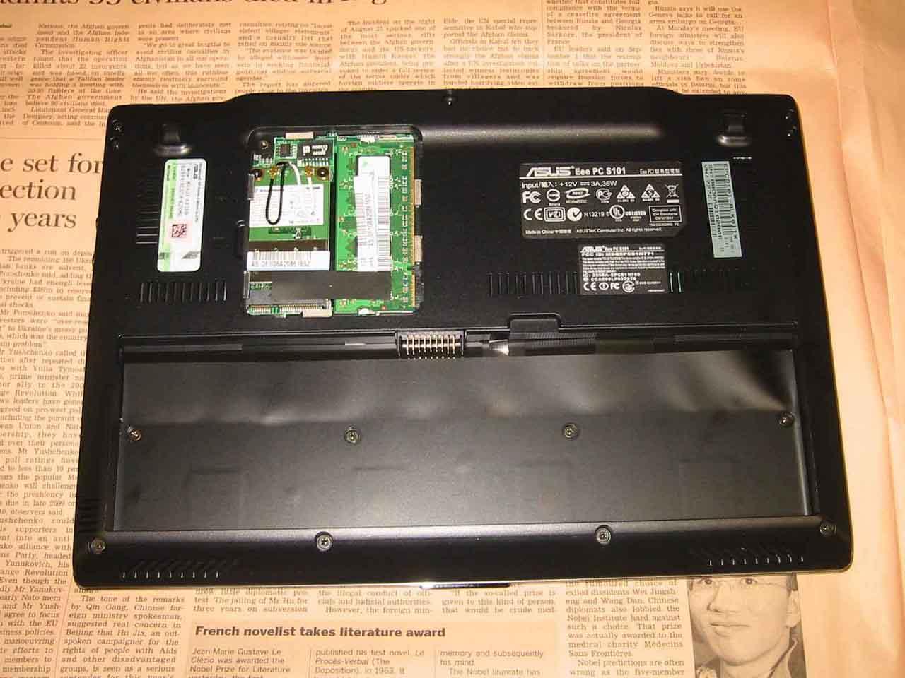 S101 メモリ交換フタ WiFi アップ画像