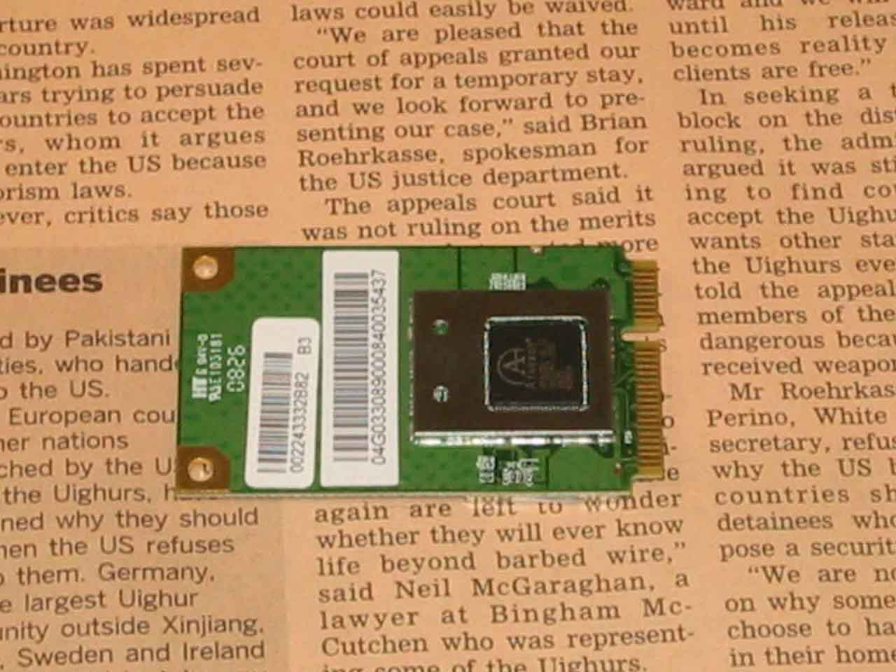 S101 分解 WiFiカード その1