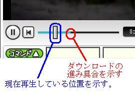 ニコニコ動画 シークバー ダウンロード 進捗 説明