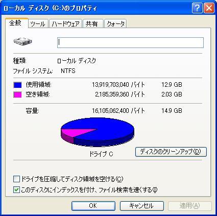 SSD プチフリ 再現 ディスクの圧迫
