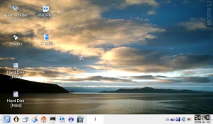 Eee PC Knopix USB ブート 画面
