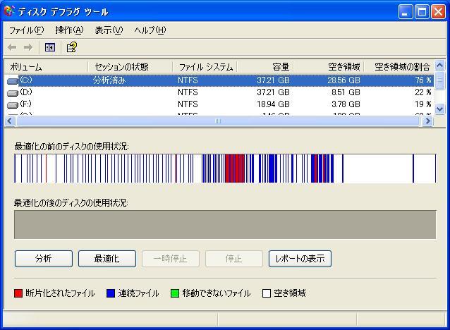 f2d ユーティリティ Windows XP Cドライブ 減量 ダイエットの実際、デスクトップでのテスト4