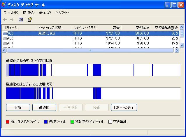 f2d ユーティリティ Windows XP Cドライブ 減量 ダイエットの実際、デスクトップでのテスト6