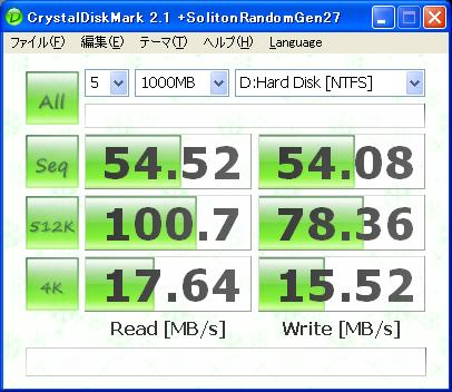 ASUS Eee PC S101H CrystalDiskMark21+SRG27