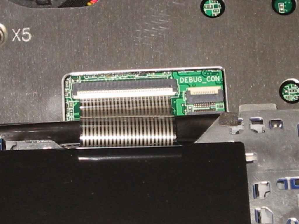 ASUS Eee S101H 分解 方法 キーボードコネクタ 外し方
