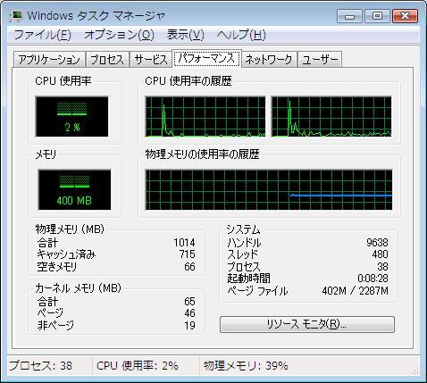 Windows Vista 2GB プチフリ PFB プチフリバスター 高速化