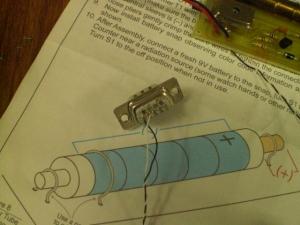 ガイガーカウンタ RS232C 接続 配線