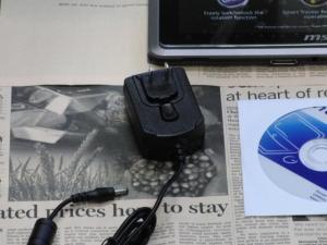 MSI WindPad 110W 化粧箱 内容物 ACアダプタ