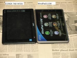 MSI WindPad 110W ACER ICONITA TAB W500 比較