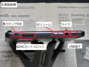 MSI WindPad 110W 筐体 右側面図