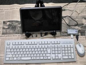 タッチパネルPC MSI WindPad 110W ドッキングステーション 自作 皿立ての使い方 USB ハブ マウス キーボード 接続