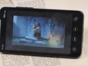 google アンドロイド HTC EVO WiMAX(au ISW11HT) スタンドアーム 動画再生