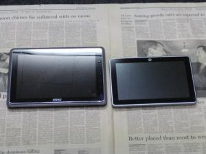 HP Slate 2 Tablet PC, WindPad 110W 大きさ比較