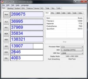ASUS ZENBOOK UX31E-RY128 UX31E UX21E ベンチ 分解 評価 レビュー 高速化 増設 CrystalMark2004R3 その3