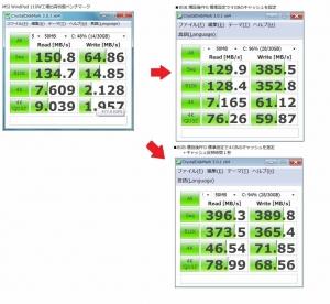 SO-DIMM DDR3 204pin CFD D3N 1333F-8G WindPad 110W 増設 確認 CrystalDiskMark ベンチマーク テスト