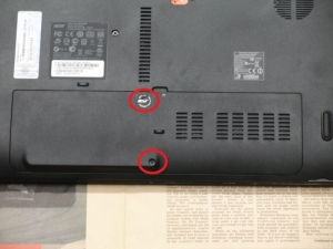 Aspire AS5750-F58D/LK 分解 メモリ増設