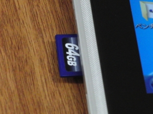 ASUS eee slate B121 SDカード SDHCカード SDXCカード HDD化
