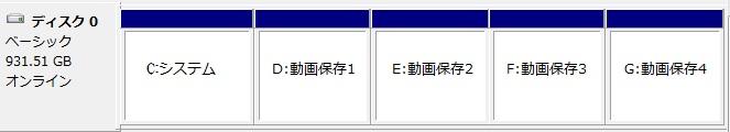 【整備手帳】壊れやすいデジレコ/監視カメラ ハードディスク 無意味なパーテーション分割