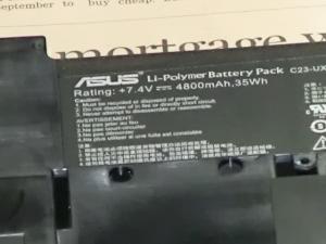[クリック【分解】第二世代 ZENBOOK Prime UX21A 評価レビュー バッテリ