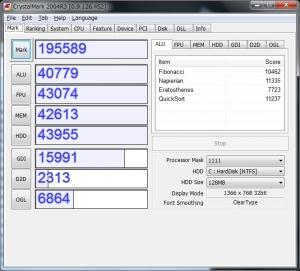 zenbook ux21a ux31a の性能を最大限引き出すセキュリティソフト ベンチマーク 測定 CrystalMark2004R3