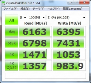 RAMDA CrystalDiskMark3 ベンチマーク