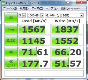 Samsung SSD 840 ベンチマーク