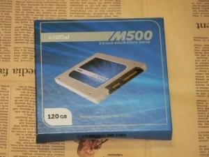 Crucial M500 SSD 120GB レビュー パッケージ