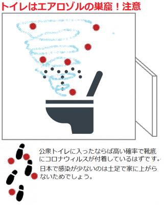 水洗便所の危険性