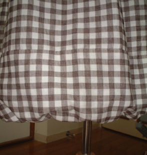 バルーンスカート裾
