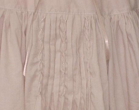 ティアードSKピンク刺繍
