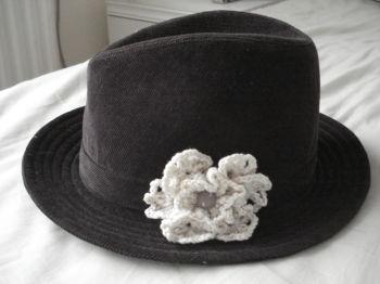 帽子につけてみた