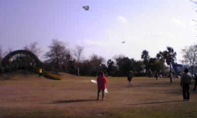 正月の凧揚げ
