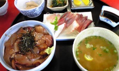 づけ丼+さしみ定食