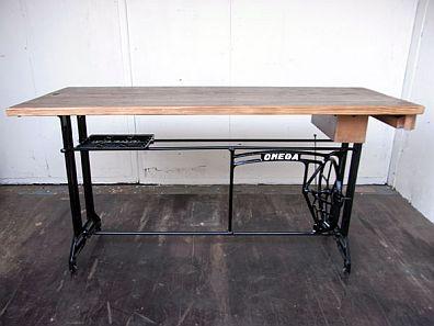 ミシン脚ワイドテーブル