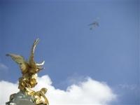バッキンガム宮殿。本当にいい天気!