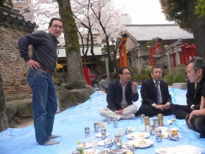 櫛田神社のお花見その2
