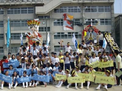 中学校山笠