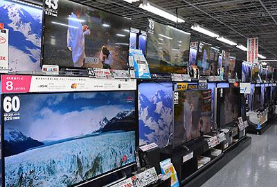 ヨドバシ名古屋店のテレビ売り場