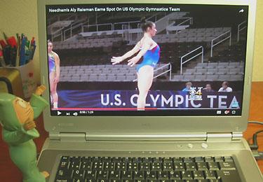 YouTube全画面、体操選手