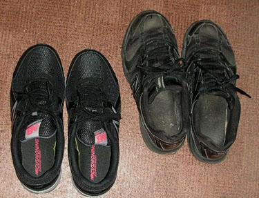 新旧ズック靴