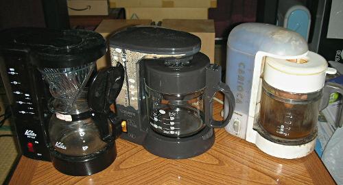 コーヒーメーカー3種