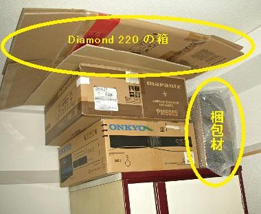 Diamond 220の箱-衣装ケースの上に。