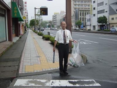 荒田二郵便局さん前