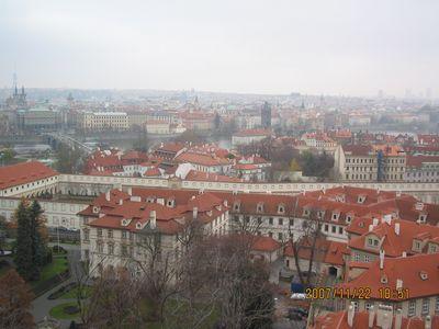 プラハ城から