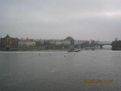 カレル橋からの景色