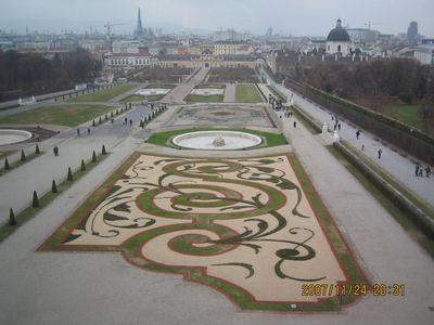 ベルヴェデーレ宮殿庭