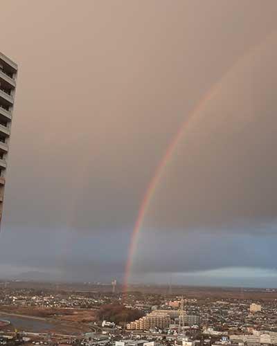 2015年2月19日の虹