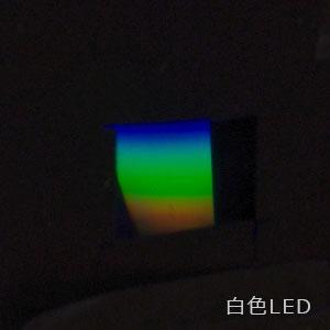 白色LEDの光を分光